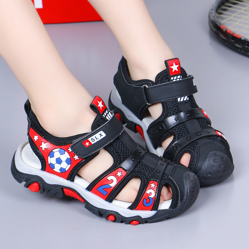 Boys Sandals Children New Korean Children 2019 Baby Children Baotou Soft Bottom Children Boys Girls Shoes