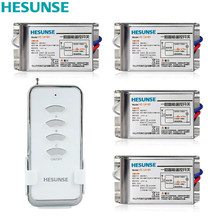 Y-F211C1N4 Hesunse 220V  Four Ways Digital Wireless Remote Switch With 4 Metal Receivers 110V Could Customized недорго, оригинальная цена