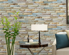 beibehang Thicken pvc modern minimalist TV background 3d wallpaper restaurant imitation stone wall paper 3D three-dimensional