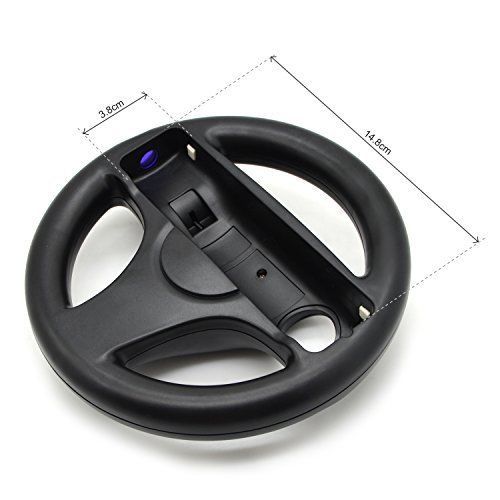 3 Color Plastic Steering Wheel For Nintendo Wii Mari o Kart Racing Games Remote Controller Console Innovative Ergonomlc Design