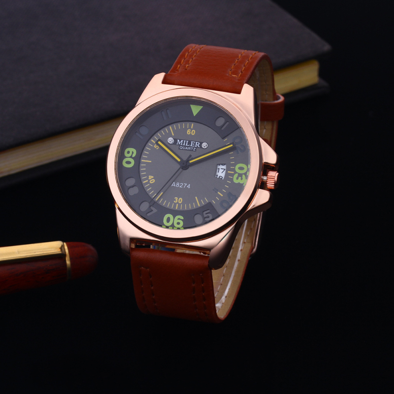 Hot Sale MILER Luxury Brand Watches Men Fashion Date Clock Quartz Watch Casual Sport Watches Men Hour Clock relogio masculino