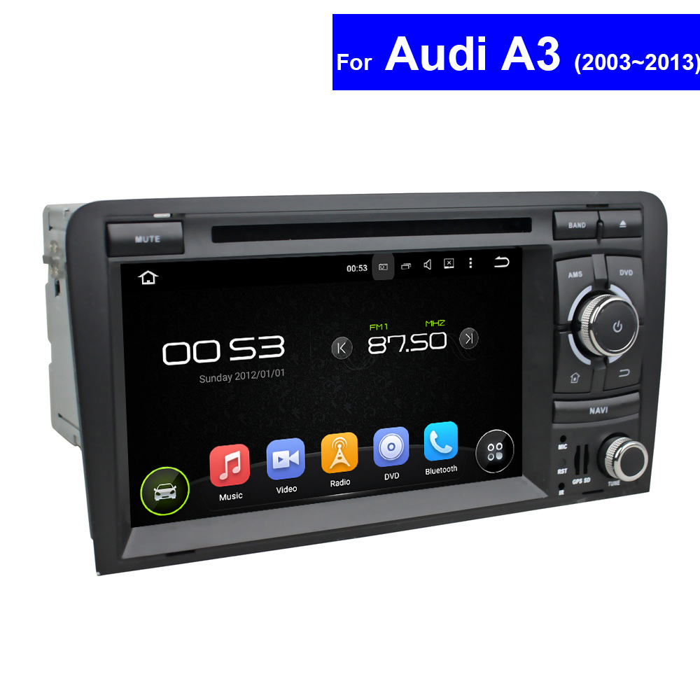 2 Din Touch Screen Car Radio for Audi A3 DVD Player with GPS Navigation TV 3G WIFI Bluetooth USB PC Android Multimedia Player