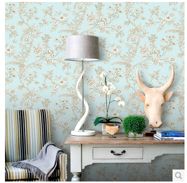 Floral Wall Paper Chinese Style Vintage Printed Wallpaper Classical Non-woven Sofa Backdrop Home Decor papel de parede Blue animal cartoon non woven wallpapers cute dog for kids room home decor wall paper toll contact paper papel de parede infantil