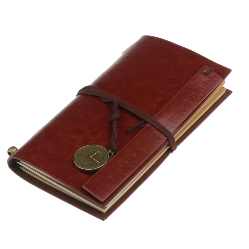 Retro Classic Vintage Leather Bound Blank Pages Journal Daily Diary Notebook 6Color