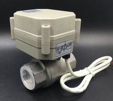 CE утвержден TF20-S2-A 2-способ BSP/ДНЯО 3/4 »Электрический Нержавеющая сталь Клапан DC9V-35V 3/7 провода