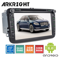 ARKRIGHT 8 Inch 2 Double Din Car Stereo Radio GPS Navigation For VW Skoda POLO GOLF