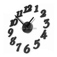 diy תלת ממדי קיר דיגיטלי שעון / קישוט הבית , פריטי חידוש וסיטוני מתנה ייחודית , משלוח חינם