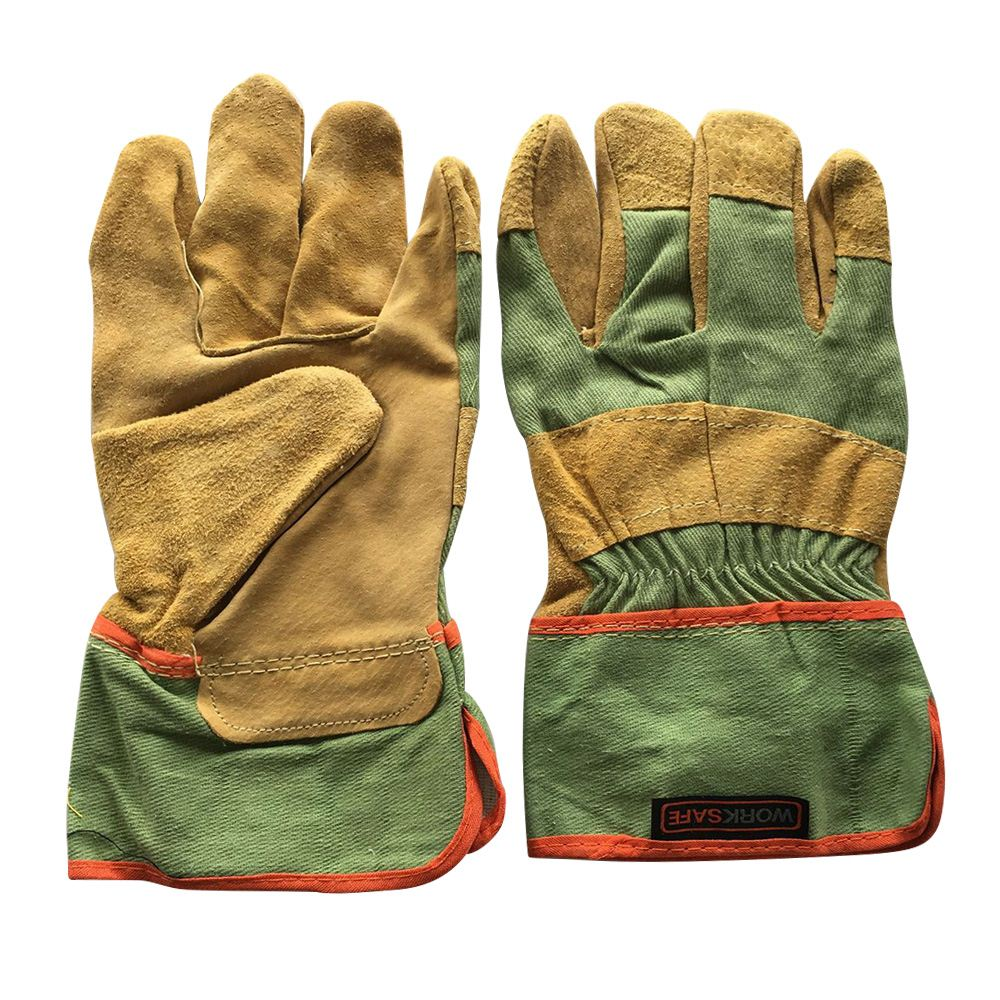 Wear-resistant Leather Welding Gloves Leather Full Palm Welding Long Gloves Wear-resistant High Temperature Fireproof Gloves