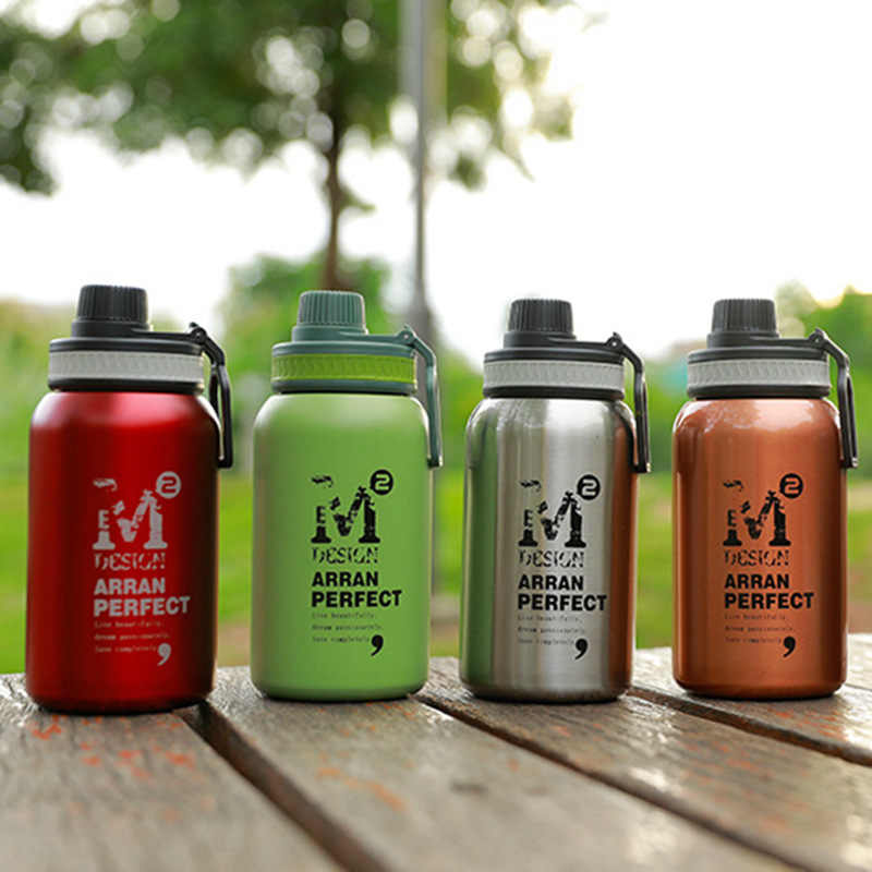 580ML/880ML Double wall Vacuum Stainless steel sports water bottle creative BPA free healthy car driving thermal water bottle