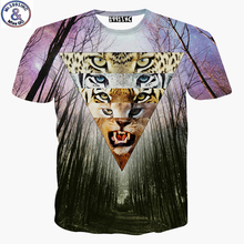 Mr.1991 newest 2016 3D leopard printed big kids t-shirt for boys Europe and America style short sleeve tshirt teens girls DT37