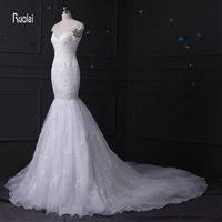 100 Real Sample Mermaid Sexy Lace Embroidery Cap Sleeves Zipper White Vestidos De Novia Formal Wedding