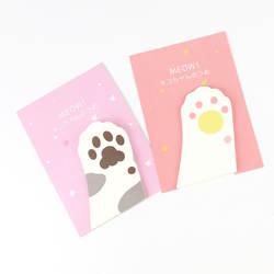 Милый мультфильм Meow Kitty Cat Paw memo pad Sticky Note Post страница маркер планировщик