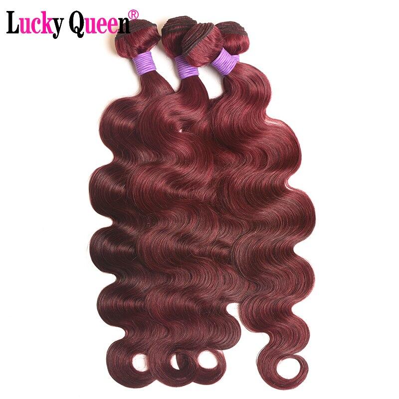 Burgundy Peruvian Body Wave 3pcs 100 Human Hair Extensions Bold Red 99j Remy Hair Weave Bundles