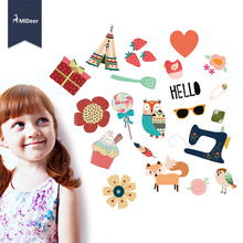 Mideer Cartoon Bronzing Stickers Games Toys for Children Encourage Kids Gift Girl Decor