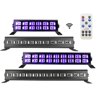 New 18W 27W 36W 54W 72W DMX 512 DJ LED UV Stage Light Bar Black Party Club Disco Light For Christmas Indoor Stage Effect Light