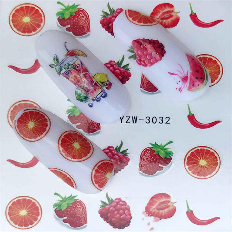 MWC 1 шт. черный Одуванчик Наклейка на ногти водная наклейка цветок мультфильм напиток трафареты для татуировок для украшения ногтей слайдеры маникюр