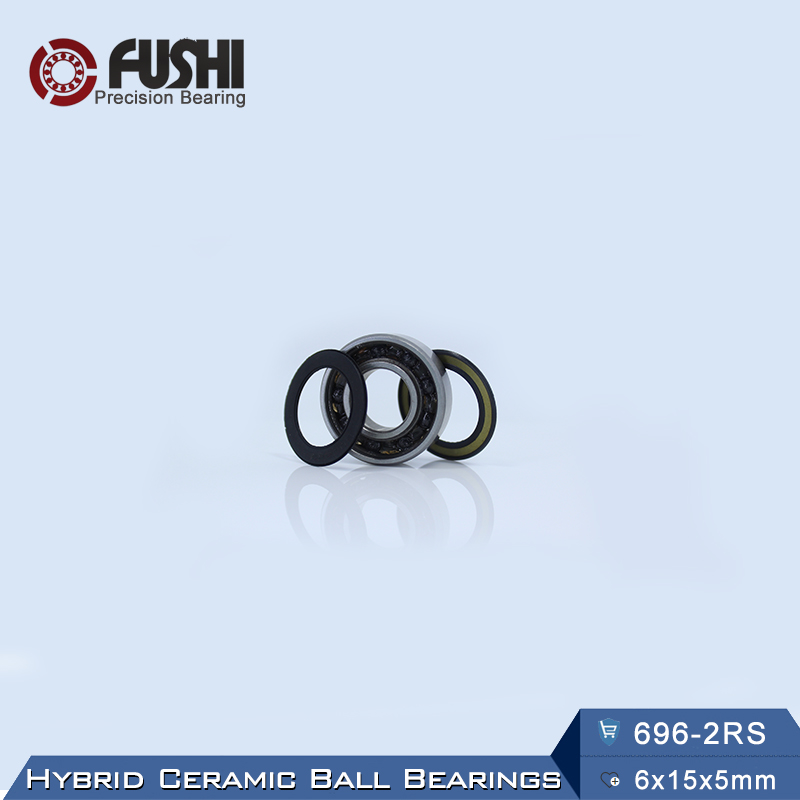 696 Hybrid Ceramic Bearing 6*15*5 mm ABEC-1 ( 1 PC) Industry Motor Spindle 696HC Hybrids Si3N4 Ball Bearings 3NC 696RS топор truper hc 1 1 4f 14951