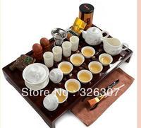 Tea Set Yixing Kung Fu Tea Set Solid Wood Tea Tray Tea Sea