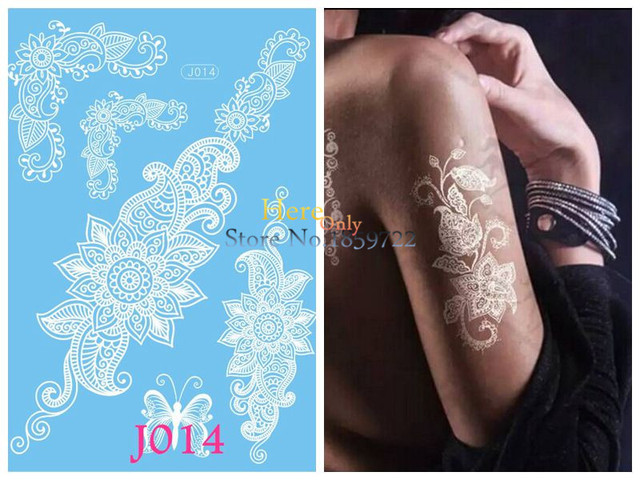 Henna Mehndi Stickers : Amazon pinkiou henna tattoo stickers lace mehndi temporary