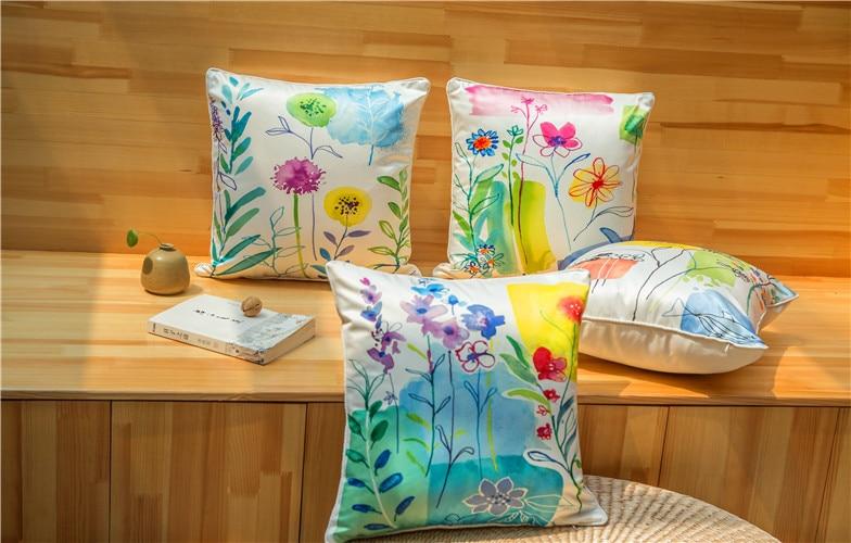 Kiváló minőségű divatos virág nyomtatott vastag utánzat selyem - Lakástextil - Fénykép 5