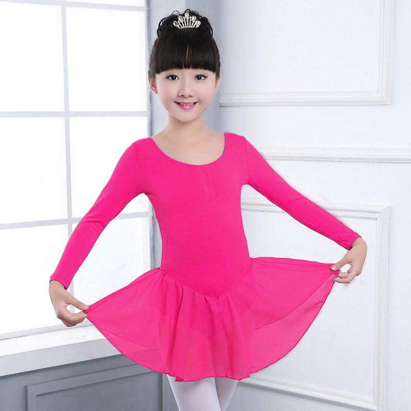 Girl Dancing Clothes Children Girls Ballet Dress Kids Gown Dance Chiffon princess dress Princess Baby Girl Leotard Bodysuit Danc