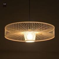 Hand Bamboo Wicker Rattan Pendant Light Fixture Modern Loft Nordic Design Hanglamp Hanging Ceiling Lamp Luminaires Suspendus