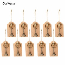 OurWarm 10PCS Wedding Souvenirs for Guests Alloy Eiffel Tower Keychain Party Favors for Kids Birthday Baby Shower Decorations