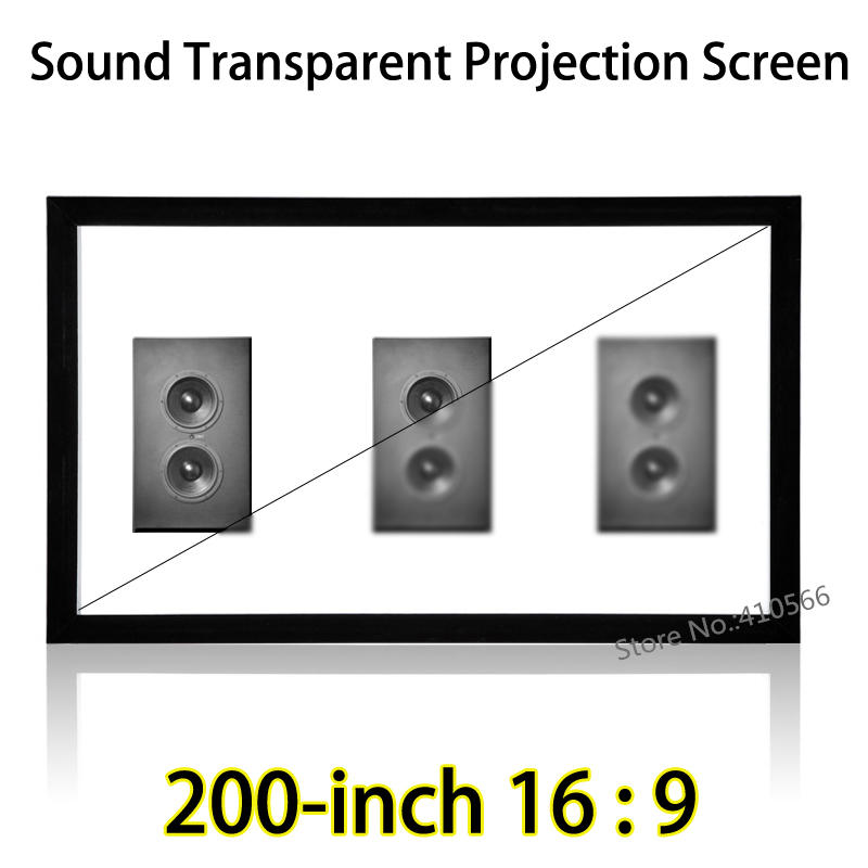 Viewable 4.43x2.49m Sound Transparent Acoustic Fixed Frame Projection Screen 16:9 For Acer Sharp 3D Projector 180 16 9 fast fold front and rear projection screen back