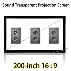 Widoczny ekran projekcyjny 4.43x2.49m z przezroczystą akustyczną nieruchoma rama 16:9 dla projektora Acer Sharp 3D