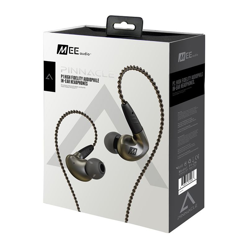 High Quality MEE-audio Pinnacle P1 Wired In Ear Earphones Audiophile Earphones With Detachable Cables Acoustic Headset With Mic ovevo s8 wired in ear earphones black