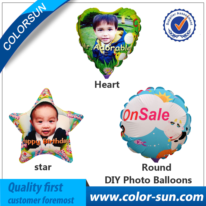 A4 Size DIY Photo Balloons With Round Star Heart Shape for Diy Party Decoration Photo Balloon