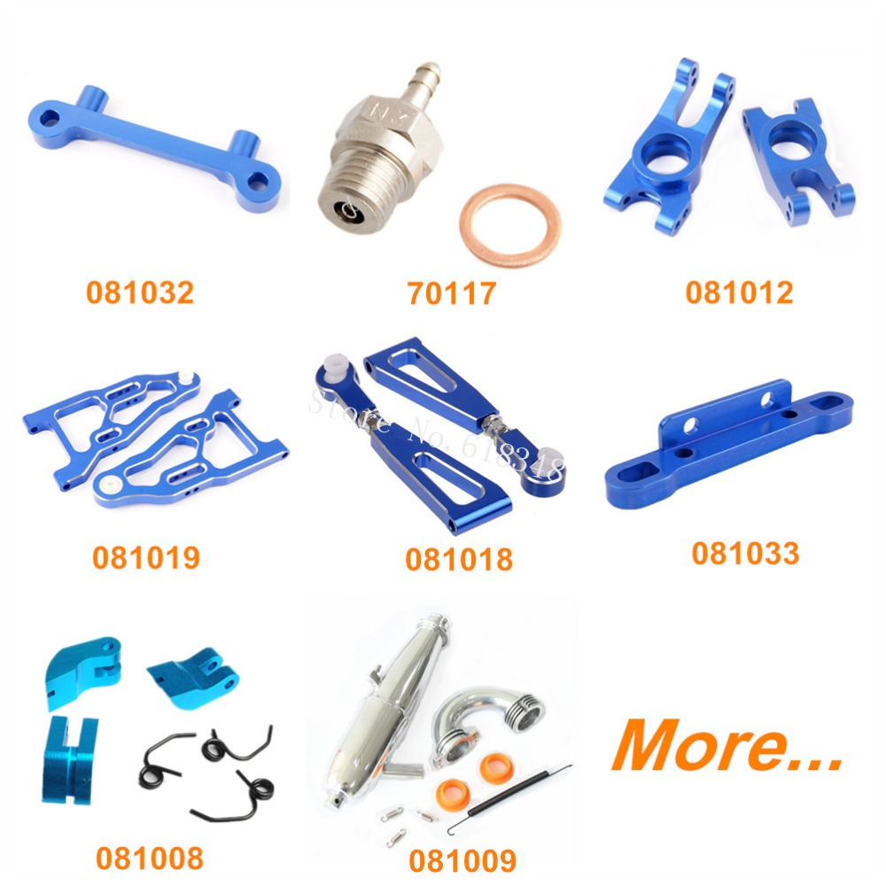 HSP BAZOOKA Upgrade Parts Aluminum for RC 1/8 Nitro Power / Brushless Off Road Buggy 94081 E9 Alloy Spare Replacement Option 81039 hsp 1 8 spare parts metal clutch bell 14t accessories for rc model car nitro power off road buggy monster truck