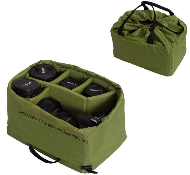 portable dslr camera inner padded bag diy insert divider case cover