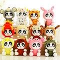 18 cm 12 unids/lote doce zodiaco Panda estupenda calidad de la felpa linda muñeca de peluche de juguete de colección de regalo de bodas regalo juguetes de los niños