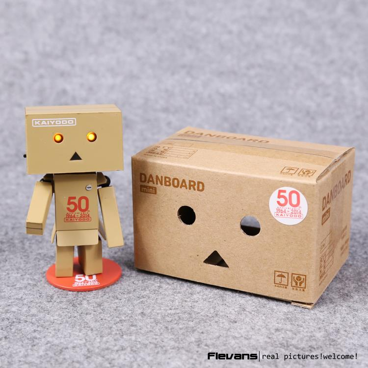 Lovely Danboard Danbo 50th Doll Mini PVC Action Figure Toy with LED light 8cm OTFG197