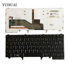 Новый французский (AZERTY) клавиатура для Dell Latitude E5420 E5430 E6220 E6230 E6320 E6330 FR Клавиатура ноутбука с подсветкой