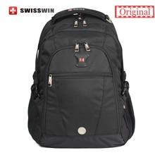 """Swisswin Schwarz Business Rucksack Männlichen Swiss Military 15 """"Laptop-tasche Mochila masculino Orthopädische Rucksack Rucksack"""