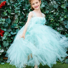 Handmade Flower Girl Dresses Wedding Baby Kids Girls Princess Tulle Tutu Dress For Birthday Party Pageant Bridesmaid Ball Gown