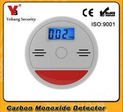 Aviso de Segurança Home Security 85dB Yobang Independente LCD CO Monóxido De Carbono Envenenamento Sensor Aviso Alarm Detector Fogo