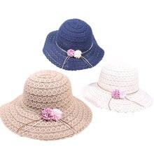 Mulheres Chapéus de Sol de verão Design de Moda Senhoras Flores Aba Larga  Chapéus de palha Meninas Igreja Chapéu Dobrável Praia . 2c0794ce245