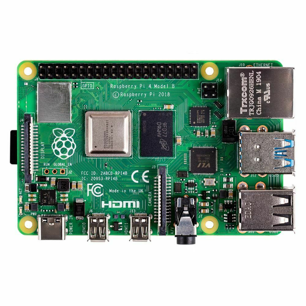 In Stock Raspberry Pi 4 Model B 4GB RAM Of LPDDR4 SDRAM 1.5GHz 64-bit Quad-core