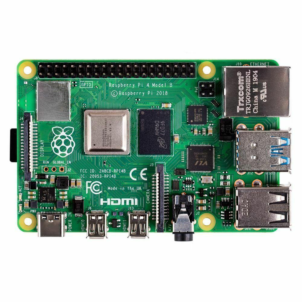 In Stock Raspberry Pi 4 Model B 4GB RAM Of LPDDR4 SDRAM 1.5GHz 64-bit Quad-core