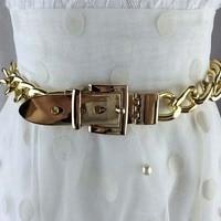Fashion Gold Silver Chian Belt Waist Decoration Metal Belts Female Silver Rhinestone Chuny Punk Designer Belt