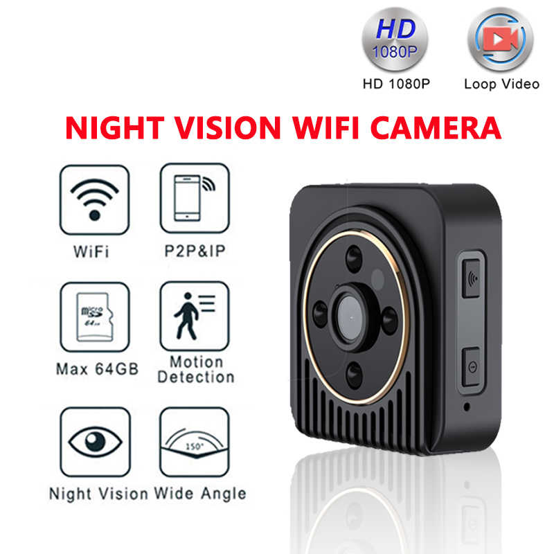 SC Wifi IP Mini Camera Draadloze HD 1080 P Infrarood Micro camcorders IR Nachtzicht Draagbare Recorder Magnetische Motion MINI cam