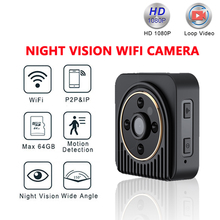 hot deal buy sc wifi ip mini camera wireless hd 1080p infrared micro camcorders ir night vision  portable recorder magnetic motion mini cam