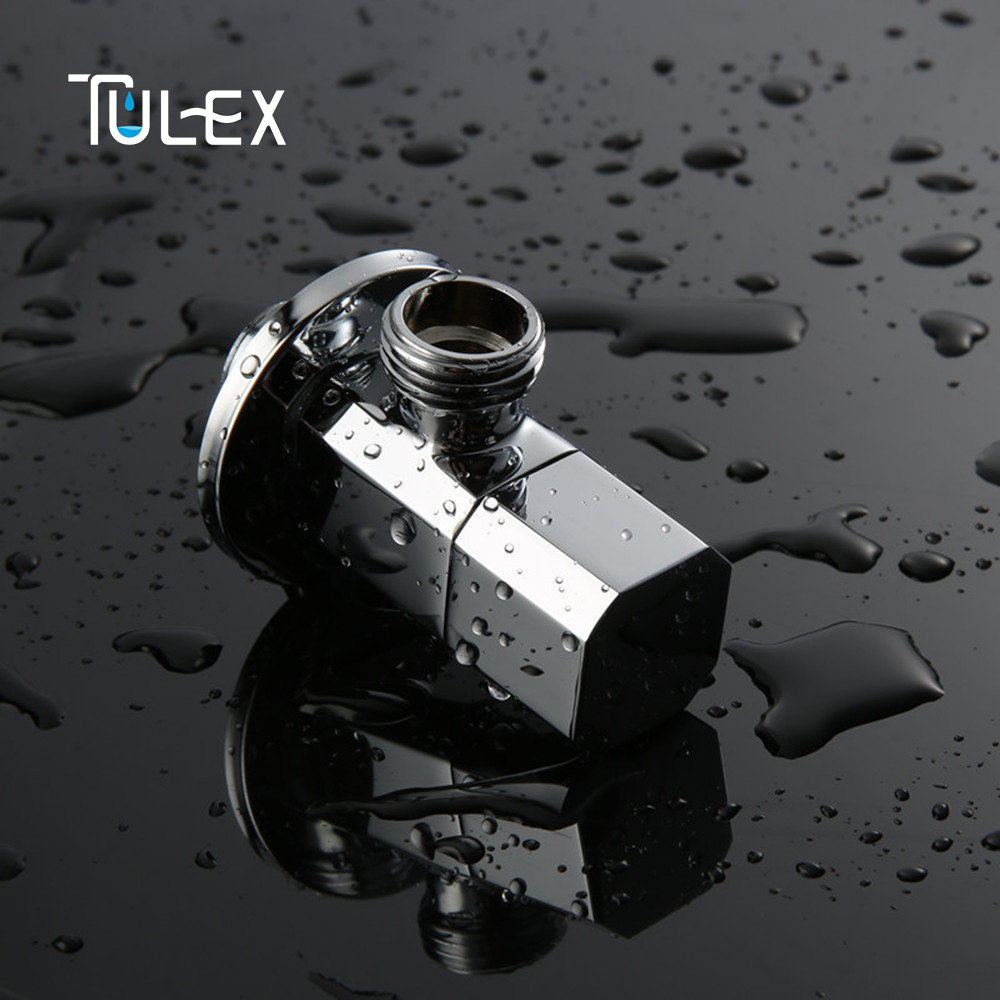 TULEX Water valve Faucet Angle Valve Brass Diverter G1/2\
