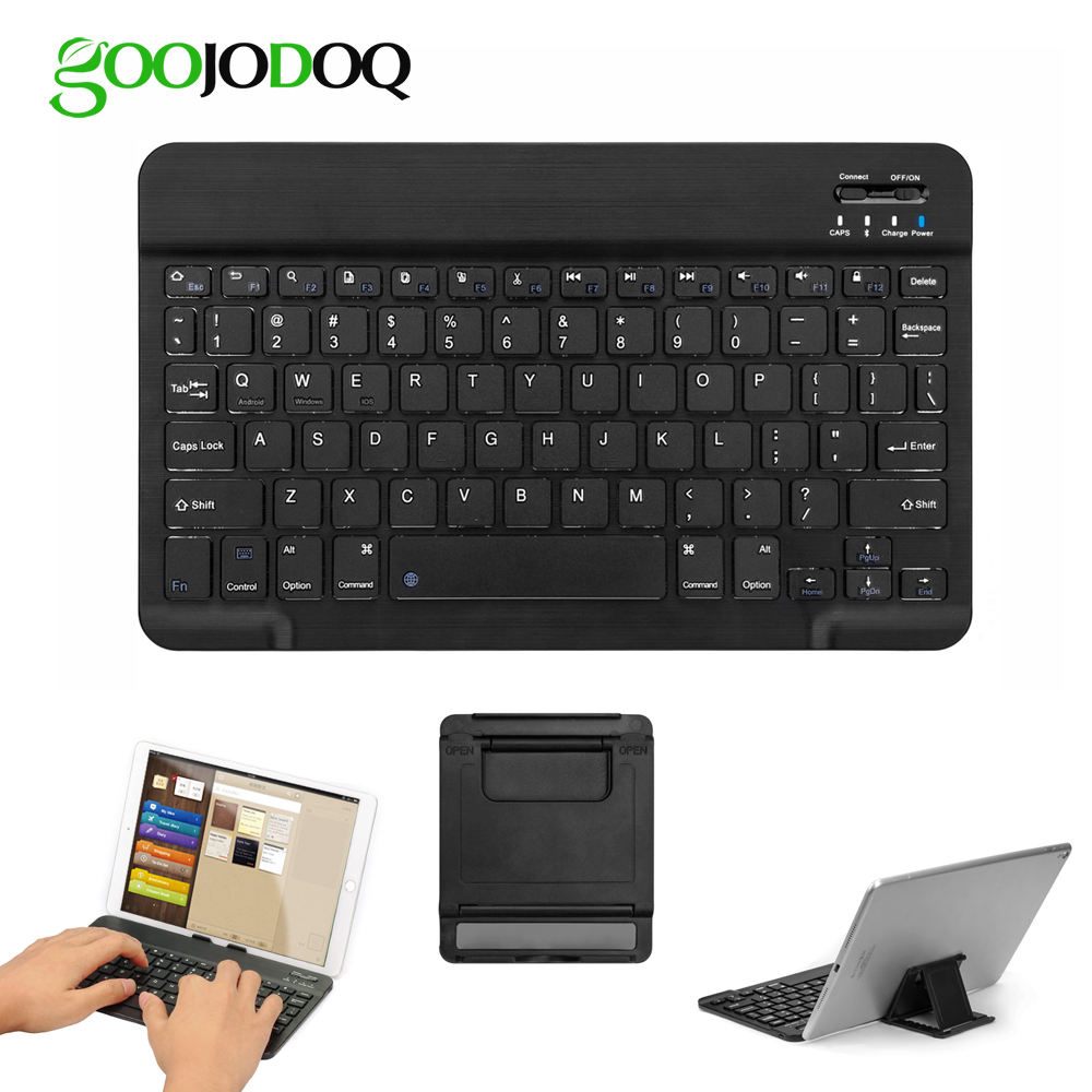 "GOOJODOQ 10"" Bluetooth Keyboard For IPad 2018 Pro 11 12.9 10.5 Air 2 1 3 Mini 1 2 3 4 5 For IPad Keyboard Mini Wireless Teclado(China)"
