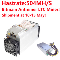 Shipment At 10 15 May Bitmain Antminer L3 504M Scrypt Miner With Psu LTC Mining Machine