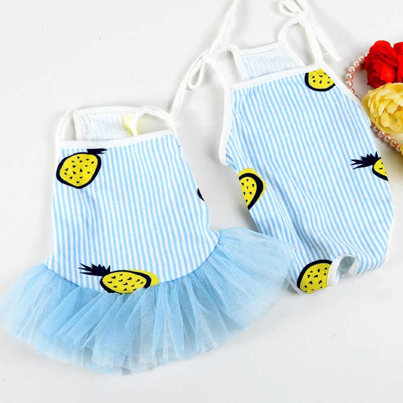 Одежда для домашних животных хлопковое платье для собак с рисунком фруктов милые сиамские физиологические штаны для собак товары для домашних животных s-xl 2 цвета