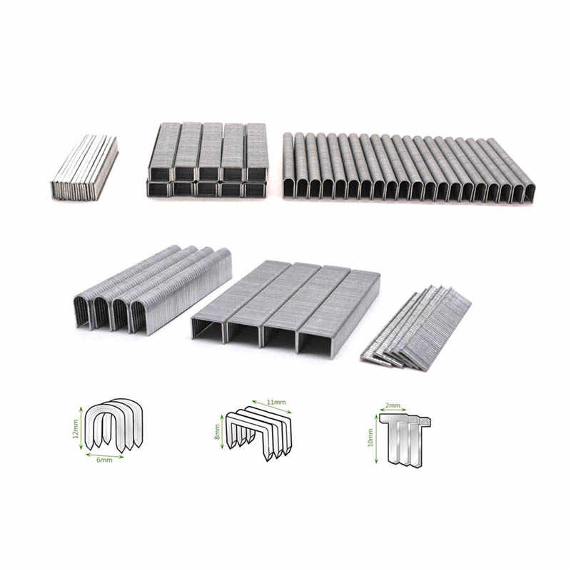 1000Pcs T-nails U-staples Door-Staples For 3 In 1 Manual Nail Staple Gun Furniture Stapler